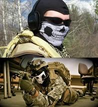 Skeleton Skull Mask Ski Motorcycle Biker Balaclava Halloween Call of Dut... - $8.90