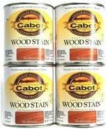 4 Cans Cabot 32 Oz Penetrating Wood Stain 8139 Gunstock Colorfast Fade R... - $45.99