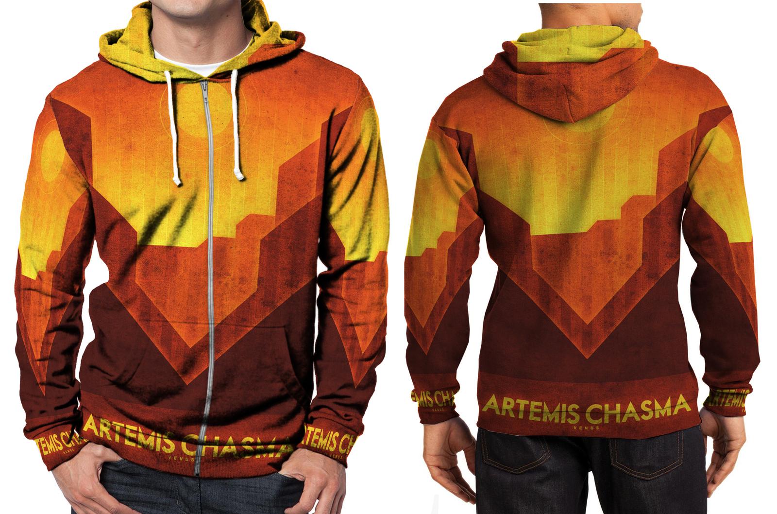 Venus artemis chasma zipper hoodie men s