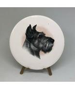 "Antique Vintage Victorian Schnauzer Dog Porcelain Art With Stand 3.5""  - $18.00"