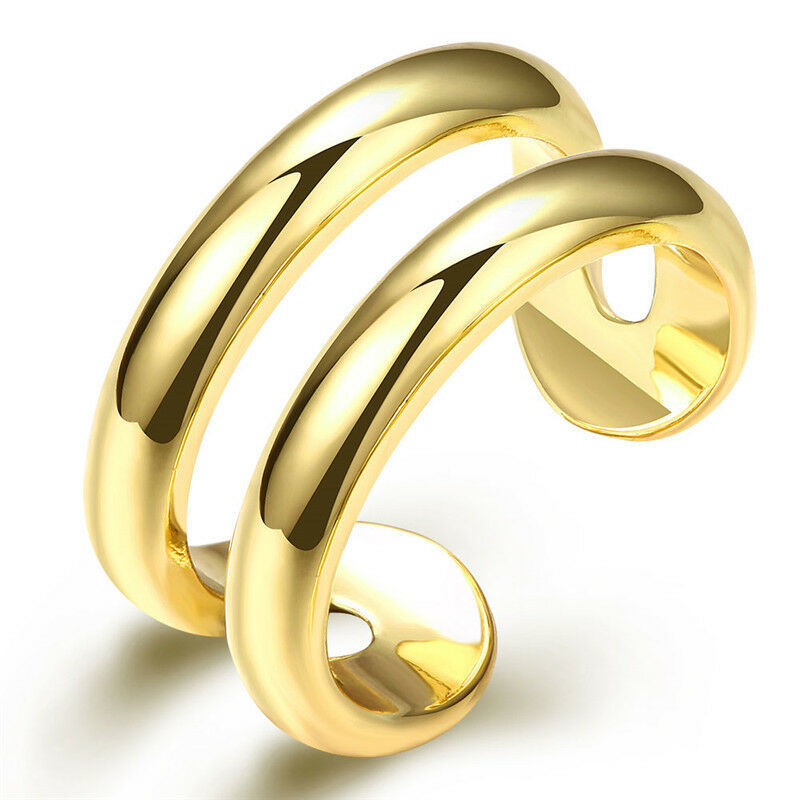 Primary image for Tubular Cocktail Wrap Ring 24k Gold NEW