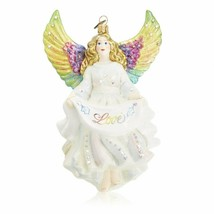 Jay Strongwater Love Angel Glass Ornament Swarovski crystals SDH20008-20... - $180.00