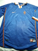 old blue soccer maglia Jersey Holland  size XL  1998 - $53.46