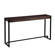 Industrial Rustic Wood Top Narrow Console Sofa Table with Metal Frame - ... - $147.28