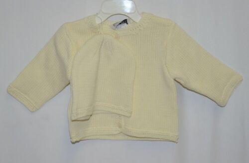 Finger Prints New York Yellow Long Sleeve Sweater Matching Beanie 6M