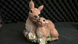 Vintage Doe and Fawn Deer Setting Music Box (Plays Memory from Cats) - $29.69