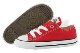 Converse All Star Chuck OX 7J236 Canvas Red Kids Baby Toddler Shoes - $28.95