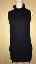 Romeo And Juliet Womens Sweater Sleeveless Turtleneck Navy Blue Small - $14.00