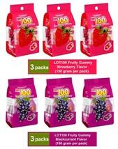 [6 PACKS] COCOALAND LOT 100 GUMMY 150 gram - STRAWBERRY & BLACKCURRANT F... - $41.90