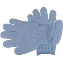 Acqua Sapone Exfoliating Body Massage Gloves - Light Blue 1 pair - $8.25