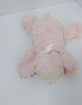Baby Gund SMALL Plush Fluffles pink Lamb Sheep rattle lying 58154 laying... - $29.69