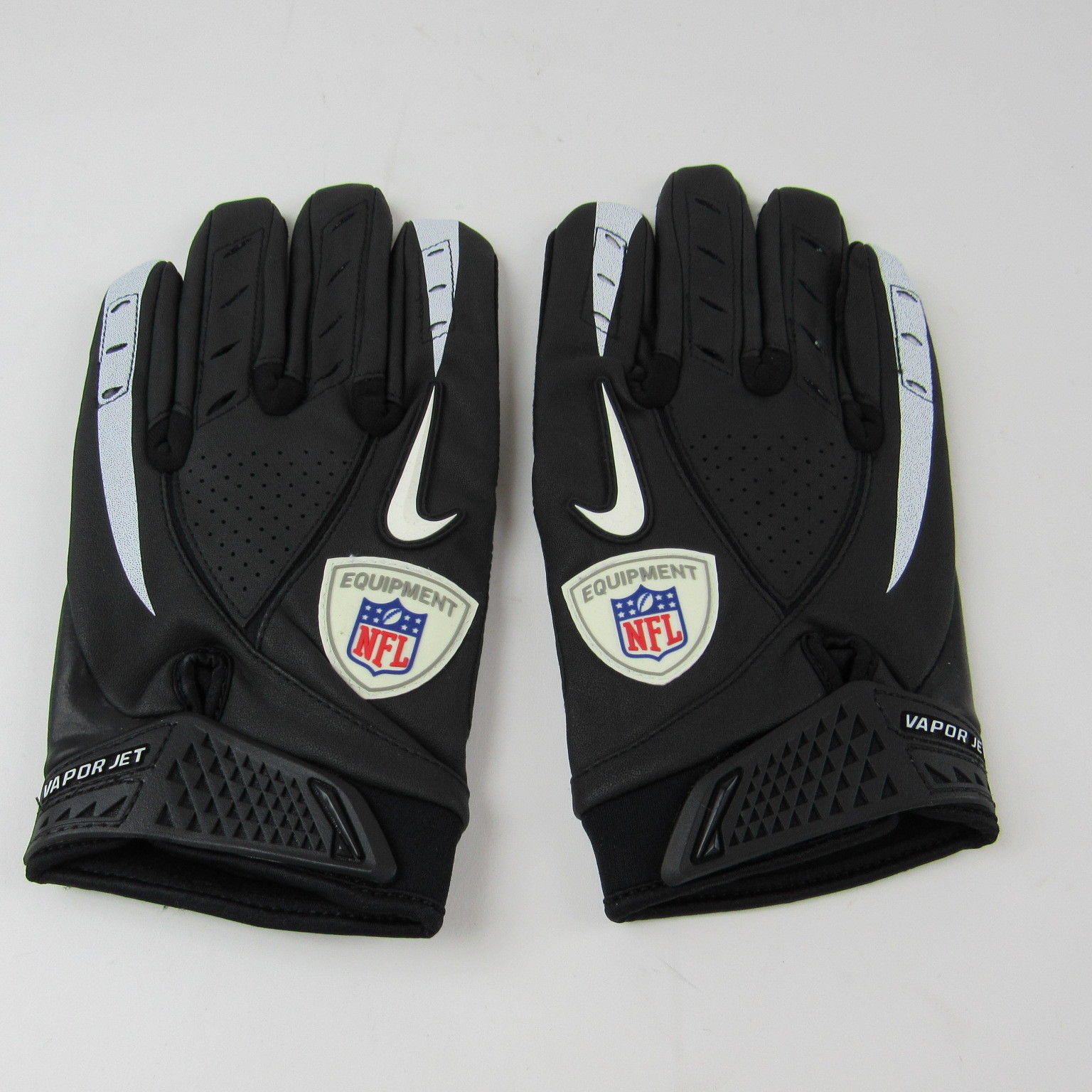 3a71369c86e Nike NFL NCAA Vapor Jet Synthetic Thermal Football Gloves Black Grey New