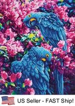 Diamond Dotz Blue Parrots 5D Diamond Painting Embroidery Facet Kit - $35.95
