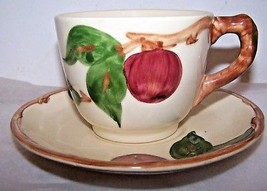 Franciscan Dinnerware Cups & Saucers Apple Design Made in USA  Coffee Tea - $24.70