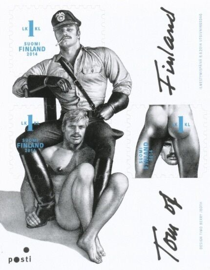 Tom of Finland Stamps block of three 1st class *NEW
