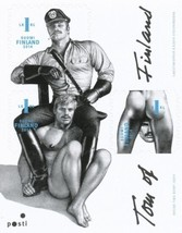 Tom of Finland Stamps block of three 1st class *NEW - $11.78