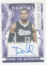2013-14 Panini Rising Tide Autographs #39 Derrick Williams Kings Auto 19... - $5.89