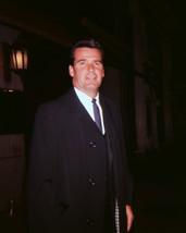James Garner candid off-screen 1960's pose in dark overcoat 16x20 Canvas... - $69.99