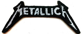 Metallica Logo Embroidered Patches Sew Iron On Badge Hat Jeans Jacket Ap... - $2.83