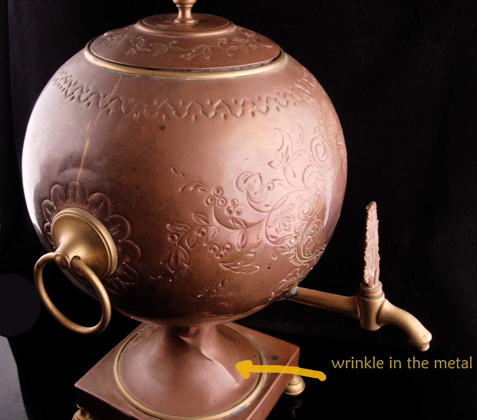 Antique Samovar - 1800's teapot - steampunk design - Russian Copper kettle with