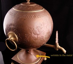 Antique Samovar - 1800's teapot - steampunk design - Russian Copper kettle with  image 4