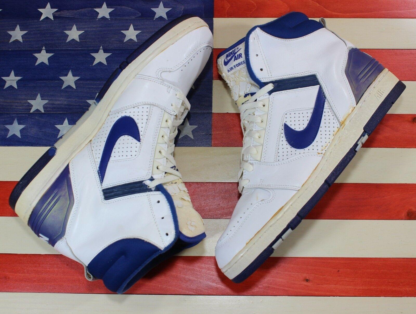 afa56958754d2a Nike Aeronautica II Originale 1987 Scarpe da Basket Bianco Blu 1 2 Og  Vintage -  232.14
