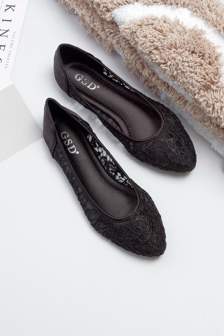See Through Lace Shoes,Shoe lace styles,Lace Up Shoes/Flats,Lace Ballet Flats