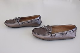 The Original Car Shoe PRADA Metallic Gold Bronze Loafer Shoes Women Sz 3... - $138.57