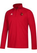 NWT $50 Adidas Men's louisville cardinals 1/4 Zip Pullover ultimate tee XXL - $24.74