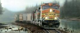 "BNSF ""Giant in the Mist & Fog""  RAILROAD JIGSAW PUZZLE - 1000 piece trai... - $25.73"