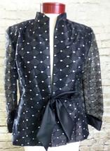 Dressbarn Formal Black Sheer Dress Formal Jackets Top Size 10 Women's NWT - $34.47