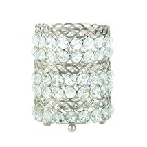 Crystal Candle Holders, Decorative Round Glass Candle Holders Crystal Art - $28.99