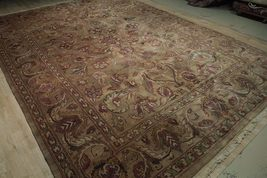 Densely Knotted Genuine Handmade 9 x 13 Brown Jaipur Wool Rug image 11