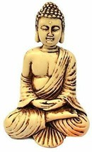 4in Buddha Statue / Idol / Decorative Figurine: Poly Marble with Antique... - $29.99