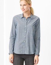 Gap Fitted boyfriend printed chambray shirt, size L, NWT - $35.00