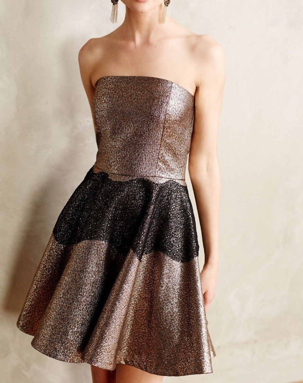 Anthropologie Foil Brocade Mini Dress by SB by Sachin and Babi $248 Sz 6 - NWOT
