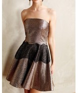 Anthropologie Foil Brocade Mini Dress by SB by Sachin and Babi $248 Sz 6... - $92.56