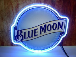 "New Blue Moon Beer Lager Bar Neon Sign 17""x14"" Ship From USA - $107.00"