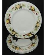 4 Royal Doulton Miramont Dessert Salad Plates China TC1022 Fruit Pattern... - $32.67