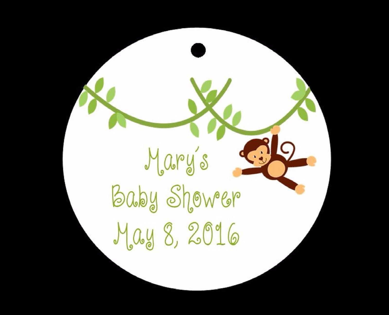 10 Monkey Baby Shower Or Birthday Favor Tags  Wording