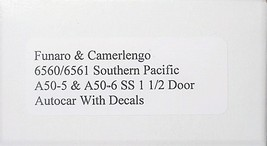 Funaro & Camerlengo HO SP AA-50-5 A50-6 SS 1 1/2 door Autocar  6560/6561 image 3