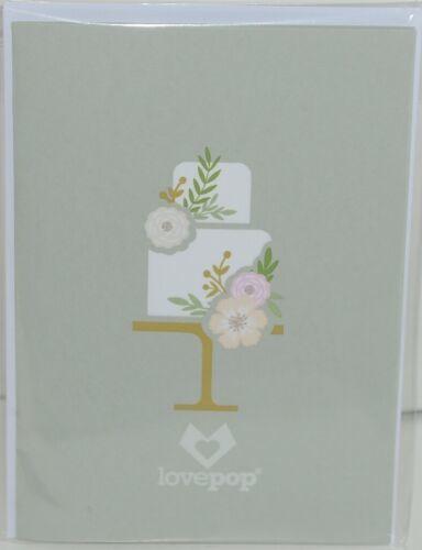 Lovepop LP2118 Wedding Cake Pop Up Card White Envelope Cellophane Wrapped