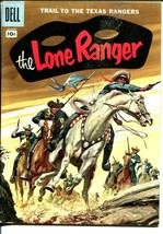 Lone Ranger #105 1957-Dell-painted cover-Texas Rangers-VG - $56.75