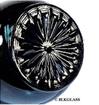 Creamer Sugar Black Glass Vintage Classic Underbase Starburst  6 Sided H... - $24.99