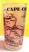 """1960'S RETRO HAZEL ATLAS-- FROSTED SOUVENIR CAPE COD GLASS TUMBLER 5 1/8"""" - $22.45"""