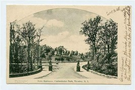 Main Entrance to Cadwalader Park Undivided Back Postcard Trenton New Jer... - $17.82