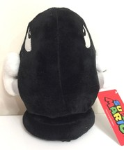 Large 8'' Super Mario Brothers Nintendo Bullet Bill Plush Toy Black New.Licensed - $13.22