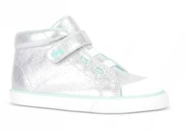 See Kai Run Basics Toddler Girls Silver Real High Top Sneaker Shoes Belmont II