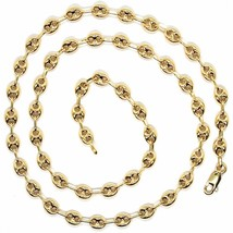 MASSIVE 18K YELLOW GOLD BIG MARINER CHAIN 5 MM, 24 INCHES, ITALY MADE NECKLACE image 2