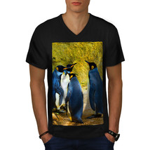 Penguin Nature Animal Shirt Antarctica Men V-Neck T-shirt - £9.96 GBP+